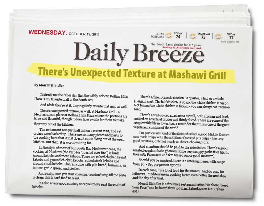 There's Unexpected Texture at Mashawi Grill